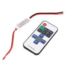 DC 5~24V Led Remote Controller Dimmer with Remote Control RF Wireless RF11 key F controller Mini In-line LED Light