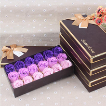 1PACK/18 Rose Flower Soap Fragrance Mother's Day Valentine's Day Gift Box Romantic Wedding Party Petal Decoration Rose Soap Gift