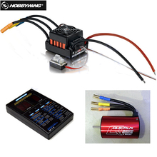 1set Original Hobbywing QuicRun WP-10BL60 Brushless Speed Controller 60A RC Car ESC + 3656 3800kv motor+ programe card