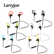 Larryjoe Sport Bluetooth Earphone Wireless Stereo Ear Hook Headphone Headsets With Micphone Handsfree for iPhone Samsung