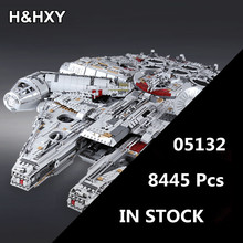 IN STOCK H&HXY 05132 8445Pcs Star Series Wars Ultimate Collector's Model Destroyer LEPIN Building Bricks Children Toys 75192(China)