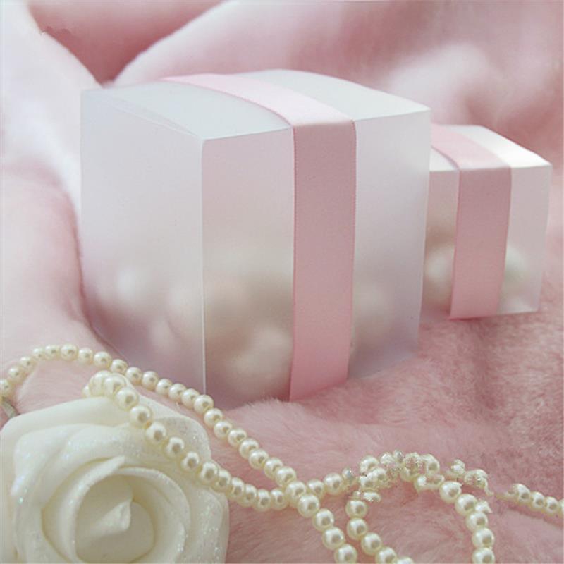 Sweet Candy Box Matte Clear Plastic PVC Candy Box Party Favor Wedding supplies Packaging Christmas decoration(China)