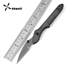 KKWOLF Tactical Folding knife Portable Pocket Knife High-Quality Survival Camping Hunting Knife Aluminum Handle Outdoor EDC Tool