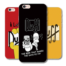 DUFF BEER Funny design plastic phone case For iphone 7 8 6S 6 Plus 5 5S SE 5C 6plus 7Plus protective covers transparent shell