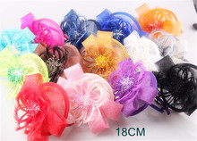 Multiple color fashion fascinator hair accessory sinamay base with feather flower wedding headwear bridal headpiece cocktail hat