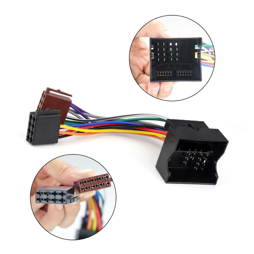 Wiring Harness for Multimedia Car Radio ISO Plug for Ford Focus C Max  Fiesta Fusion MondeoTransit Kuga Wire Cable Adapter    - AliExpressAliExpress