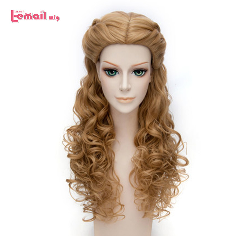 L-email wig 2017 New Movie Long Wavy Curly Blonde Princess Cinderella Wig Anime Cosplay Wigs For Adult<br><br>Aliexpress