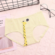 Buy 4 COLORS Women Panties Sexy Cotton Underwear Girls Cute Printed Intimate FREE Size Briefs Lady Breathable Underpants