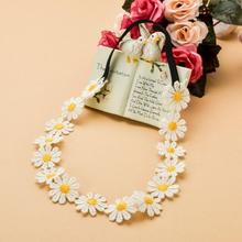1 PCS Fashion Women Sunshine Flower Boho Elastic Hairband Headband Festival Wedding Seaside Spring Summer Beautiful(China)