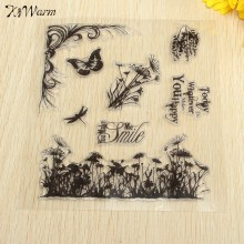 Lovely Bird Language Grass Transparent Clear Stamp Seal  For Scrapbooking Photo Album Diary Card Making DIY Decoration Supplies