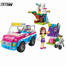 YNYNOO BELA 10555 Girl Friends Olivias Expeditions Auto Car Toys DIY Building Brick Toys Girls Gift Compatible 41116(China)