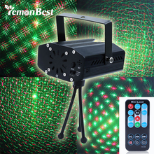 LemonBest Portable multi LED bulb Mini Laser Projector DJ Disco Stage Light Xmas Party Lighting Show With Remote Control(China)