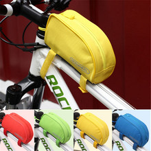 New Free Shipping High Quality 1L Roswheel Outdoor Mountain Bicycle Bag Cycling Frame Front Top PVC Tube Bag Bike Pouch 8 Color(China)