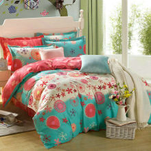 Dandelion printing Bedding set Dot style 4PCS 100% Cotton Bed set Duvet cover flat bed sheet and pillow case home textile