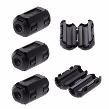 5 Pcs 5mm Clip-On Ferrite Ring Core Noise Suppressor For EMI RFI Clip Cable Active Components Filters(China)