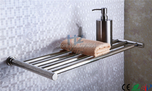 Single layer heated towel rail electric towel warmer rack stainless steel bathroom shelf dryer towels HZ-921(China)