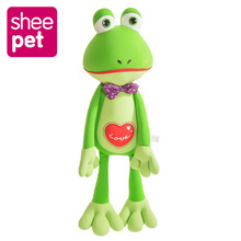 Original 66cm Large Frog Plush Toy Doll with Tie Frog Kids Birthday Christmas Gift Sheepet Soft Stuffed Plush Toy(China)
