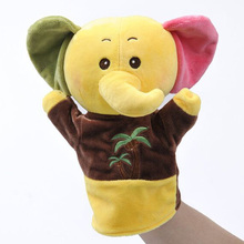 RYRY Cute Elephant Doll Stuffed Puppets Soft Plush Kawaii Dogs Hand Puppet for Children Gifts(China)