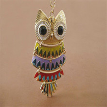 XQ Free shipping 2015 Europe and Japan and South Korea jewelry trade Owl Necklace crown female fashion accessories retro long