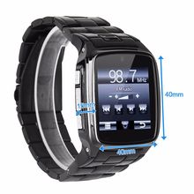 "1.6"" screen Stainless Steel Bluetooth 3.0 SIM Camera HD DV Recording Pedometer 4G Memory Smart Watch Phone security MSN P20"