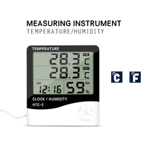 3 in 1 Multifunction Indoor Room LCD Electronic Temperature Digital Thermometer Hygrometer Alarm Clock Weather Station(China)
