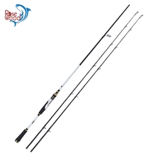 RoseWood SHENGHE M & MH Two Tips Fishing Rod 2017 2.1m 5-22lbs Carbon Fiber Spinning Casting Fishing Rod Black & White 2 Colors