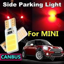 WLJH 2x T10 Car Light Source COB Led W5W Bulb for Mini Convertible Mini One for Cooper S Side Parking Light Canbus Error Free