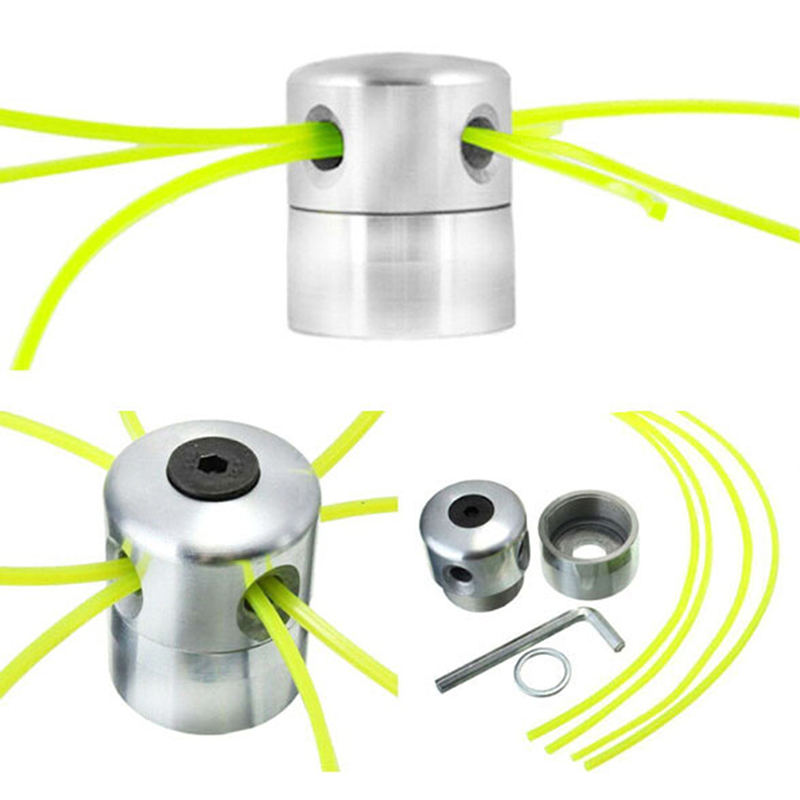 Universal Cylindrical Aluminum Trimmer Head Lawn Mower Accessories Garden Tool