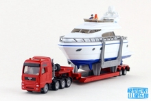 Brand New SIKU Heavy Haulage Transporter With Yacht Diecast Metal Car Model Toy For Gift/Collection/Kids/Decoration