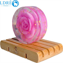 High quality Rose handmade soap cleanser replenishment whitening Gold Natural Handmade Soap