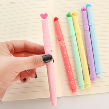 freeshipping 24pcs Creative crayons children stamp highlighter marker pen flashlight luminous pen