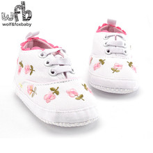 Retail first walkers Soft Bottom Antiskid embroidered sports fashion Baby Shoes Newborn infant Toddler