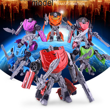 Alloy Deformation Robot Model Toy Manual Operated Children Gifts Game Cool(China)
