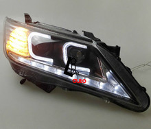 car styling HID Xenon Headlight with LED DRL Angle Eyes For TOYOTA CAMRY 2012-2014 Lamp