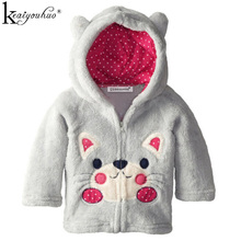 2017 New Boys Coat And Jacket Children Hoodies Jackets Coats For Girls Outerwear Cartoon Kids Clothing Coral Fleece Embroidered