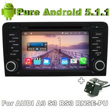 2 din android 5.1 quad core car audio dvd for AUDI A3 2003 - 2011 Audi S3 RS3 RNSE-PU with car gps rear view camera Radio(China)