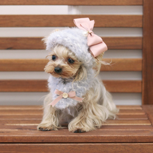 Sold by Set !Handmade Knitted Kawaii Pets Store Warm Lovely Dog Hats Dog Scarf for Small Pets Cats Maltese Yorkie Winter(China)