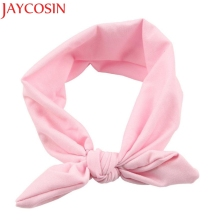 JAYCOSIN New Fashion Girls Rabbit Bow Ear Hairband Headband Turban Knot Head Wraps For Little Kids July13 Drop Shipping