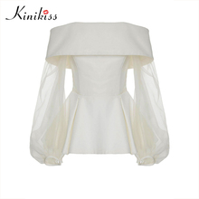 Buy Kinikiss 2017 Women Clothing Satin Blouse Autumn mesh Long Sleeve Female Shirts Ladies Blusas Tops Shirt White Blouses slim Tops for $14.81 in AliExpress store