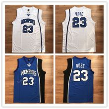 Vintage Derrick Rose #23 Memphis Tigers College basketball jersey all size Embroidery Stitched Custom any Number and name(China)