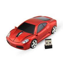 Sports Car Shape 2.4GHz Wireless Mouse Car Mause 1600DPI Optical Gaming Mouse Mice for computer PC Desktop Laptop Free Shipping