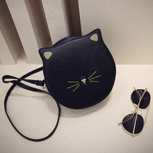 2016 Good Quality female Mini Messenger bag Circle Crossbody bags Cat bag Women's Handbag Round Shoulder Bags
