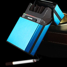 EZLIFE Aluminum Metal Cigar Cigarette Hard Box Holder Tobacco Storage Case A Pack 20pcs Gift XN187(China)
