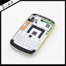 Bold 9900 New OEM Good Quality Full Housing Back Battery Case Cover+ Keypad For Blackberry Bold 9900 White to Assemble