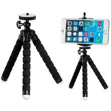 Mini Portable Car Flexible Tripod Stand Mount With Holder For Phone Action Camera and Camcorder