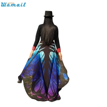 8 Colors 197*125cm New Chiffon Butterfly Wings Shawl Women Beach Cover Up Dress Sarong Beach suit Bathing Suit Beachwear Febr08(China)