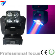 Freeshipping 2pcs/lot 4 eyes Mini RGBW LED Mini Moving Head Wash DMX 512 4IN1 LED Scanner Stage Effect 4x15W Led moving head