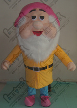 export high quality pink hat yellow clothes dwarfs costumes the seven dwarfs mascot costume