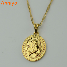 Buy Anniyo Gold Color Virgin Mary Necklace Pendant Women Trendy Goddess Pendant Necklaces,Jewelry Catholic Bible Wholesale #037204 for $3.98 in AliExpress store