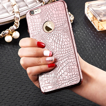 New Luxury electroplate soft TPU case for Apple iphone 6 6s 6 Plus 6s 5 5S Back Cover Crocodile Snake phone cases for iPhone 6S